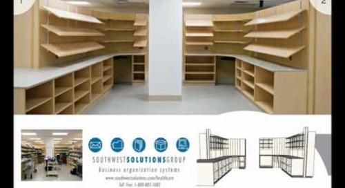 Pharmacy Modular Furniture, Caseworks, Millwork, Cabinets, Shelving, Racks
