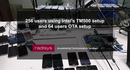 256 users using Intel's TM500 setup and 64 users OTA setup