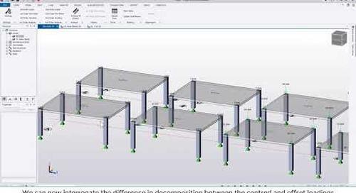 Tekla Structural Designer 2020 - How does TSD decompose applied loading?