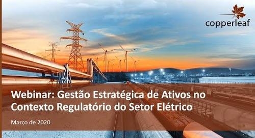 Webinar - Gestão Estratégica De Ativos No Contexto Regulatório Do Setor Elétrico