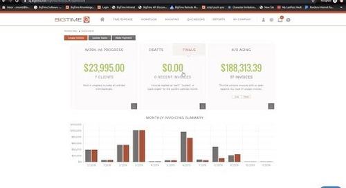 BigTime Invoicing Webinar