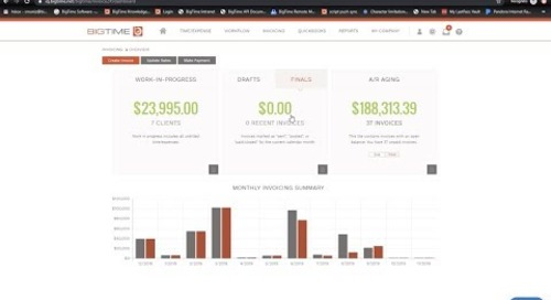 BigTime Invoicing Training Webinar