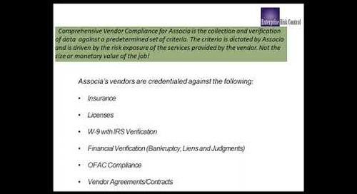 Enterprise Risk Control Vendor Compliance Session
