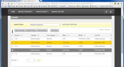 Trimble Asset Manager: Scheduling Asset Transfers