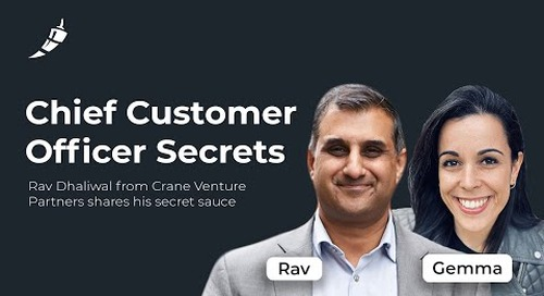 Why Customer Success is a Continuous Sales Motion with Rav Dhaliwal from Crane Venture Partners