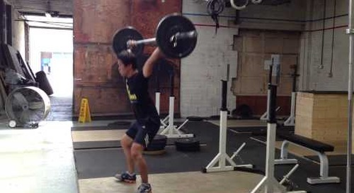 Olympic Weightlifting - Snatch Practice August 1, 2013