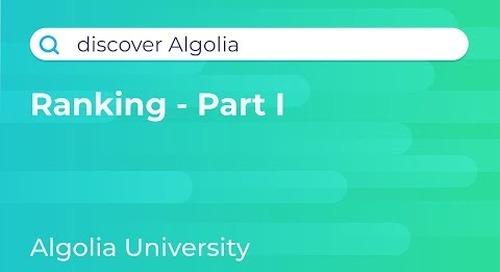 Discover Algolia: Search Ranking Algorithm
