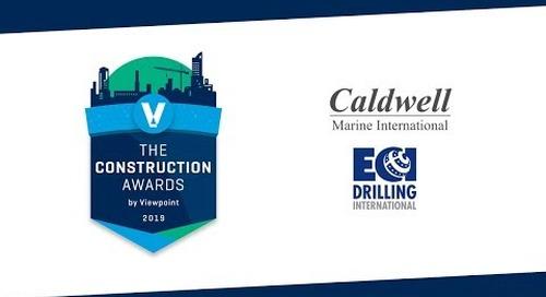 Most Challenging Project Winner - Caldwell Marine International & ECI Drilling International