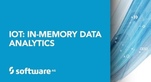 IoT: In-Memory Data Analytics