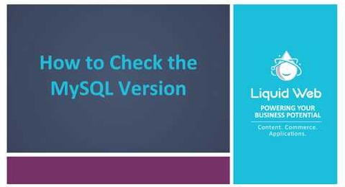 How to Check the MySQL Version