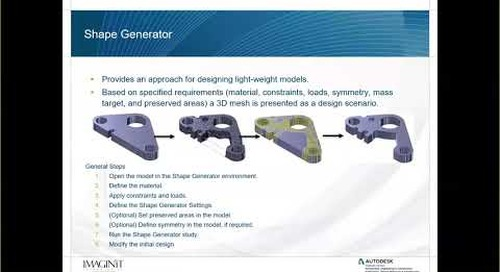 Online Inventor User Group – Generative Design