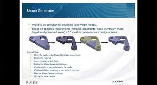 Online Inventor User Group – Generative Design
