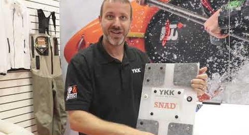 David Kelly introduces YKK's SNAD® fasteners at IFAI Expo