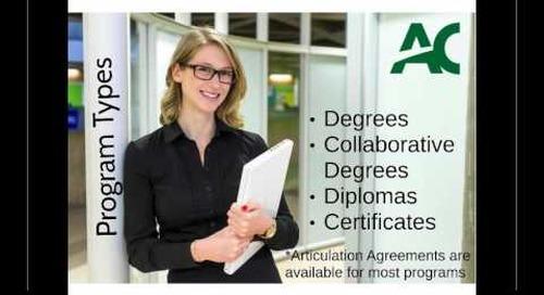 Degrees That Work Webinar - Algonquin College