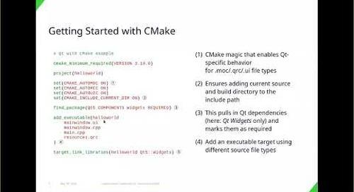 Using Modern CMake with Qt, KDAB {Qt Virtual Tech Con 2020}