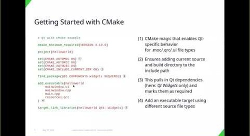 Using Modern CMake with Qt, KDAB {Qt Virtual Tech Con 2020}
