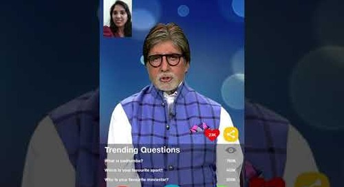 World's 1st Video Call Bot with legendary Bollywood Superstar, Amitabh Bachchan