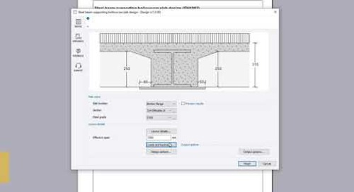 Steel beam supporting hollowcore slab design (EN1993)