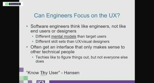 QtWS16- User Experience Design for Software Engineers, Jeff LeBlanc, ICS