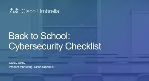 Back to School Cybersecurity Checklist