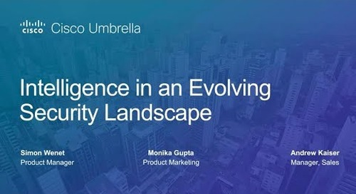 Intelligence is an Evolving Security Landscape