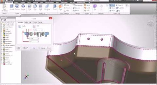 Autodesk Inventor - Plastic Part Commands: Grill