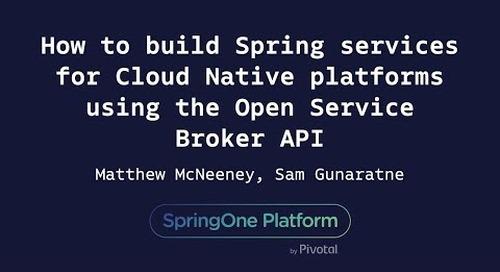 How to Build Spring Services for Cloud-Native Platforms - Matthew McNeeney, Sam Gunaratne