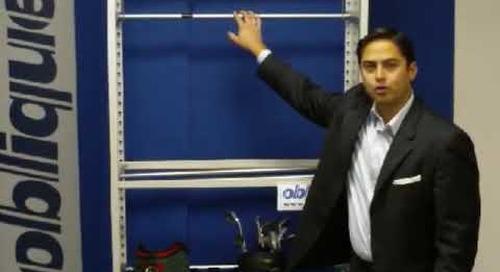Golf Bag Storage Racks Rail System Shelving Supports