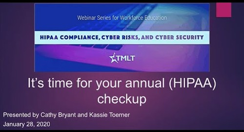 It's time for your annual HIPAA checkup