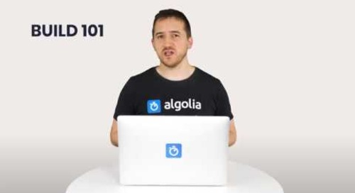 Algolia Build 101 - Introduction