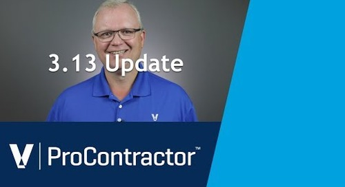 What's New in ProContractor 3.13!