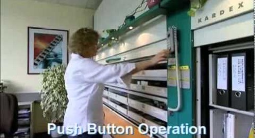 Kardex Electric Push Button Multimedia Cabinet Stores CDs Videos Computer Data Media