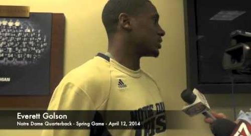 Everett Golson Talks After Notre Dame Spring Game