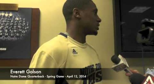 Everett Golson Talks After Notre Dame Spring Game