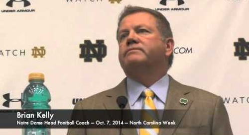 Notre Dame's Brian Kelly - 10/7/14 - UNC Week