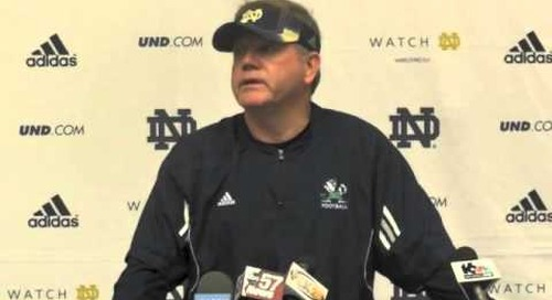 ND's Brian Kelly Addresses The Media 4/4/14