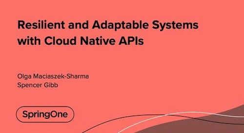 Resilient and Adaptable Systems with Cloud Native APIs