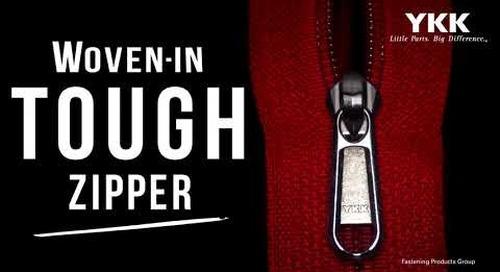 YKK® Woven-In Tough Zipper