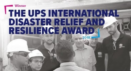 Arup win the UPS International Disaster Relief Award