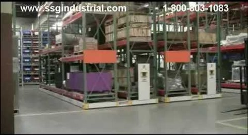 ActivRac Mobilized Pallet Racks | Spacesaver Moveable Aisle Storage Racking