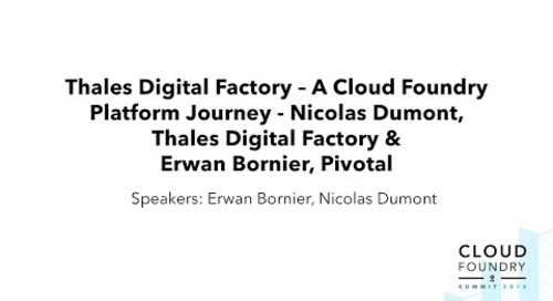 Thales Digital Factory – A Cloud Foundry Platform Journey