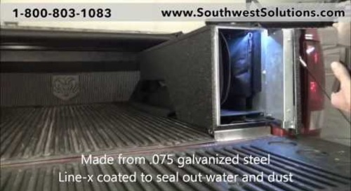Pickup Truck Bed High Security Gun Lockers for Rifles | Law Enforcement Weapon Storage