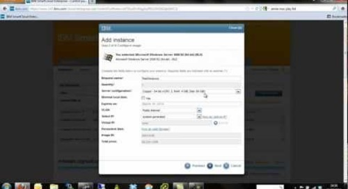 IBM Smart Cloud - Provisioning Windows Instances