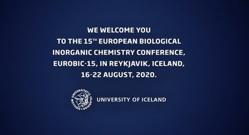 EUROBIC 2020 - 15th European Biological Inorganic Chemistry Conference