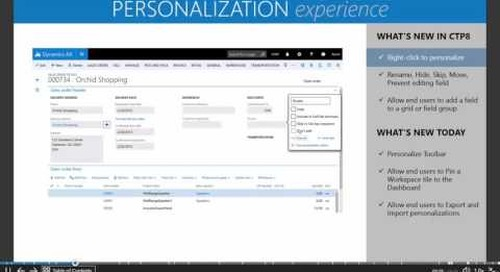Microsoft Dynamics AX7 - The New Personalization Experience