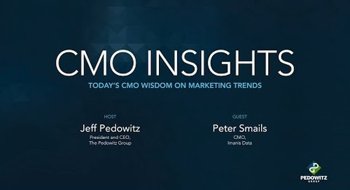 CMO Insights: Peter Smails, CMO of Imanis Data