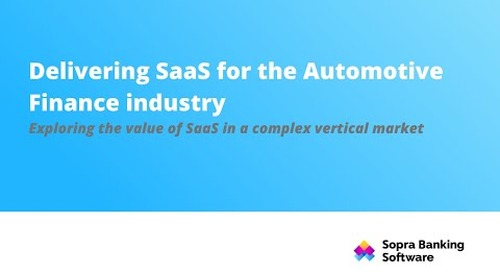 Delivering SaaS for the Automotive Finance industry