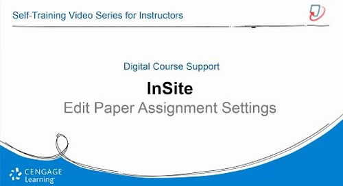 InSite2: Edit Paper Assignment Settings