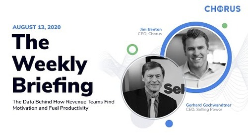 The Weekly Briefing - Data Behind How Revenue Teams Find Motivation