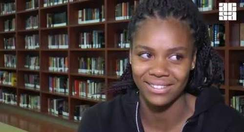 Human trafficking survivor turns to principal & poetry for strength